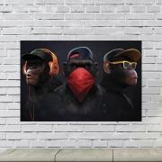 Placa Decorativa Gangue dos Macacos