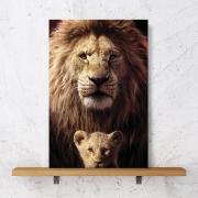 Placa Decorativa Leão e filhote