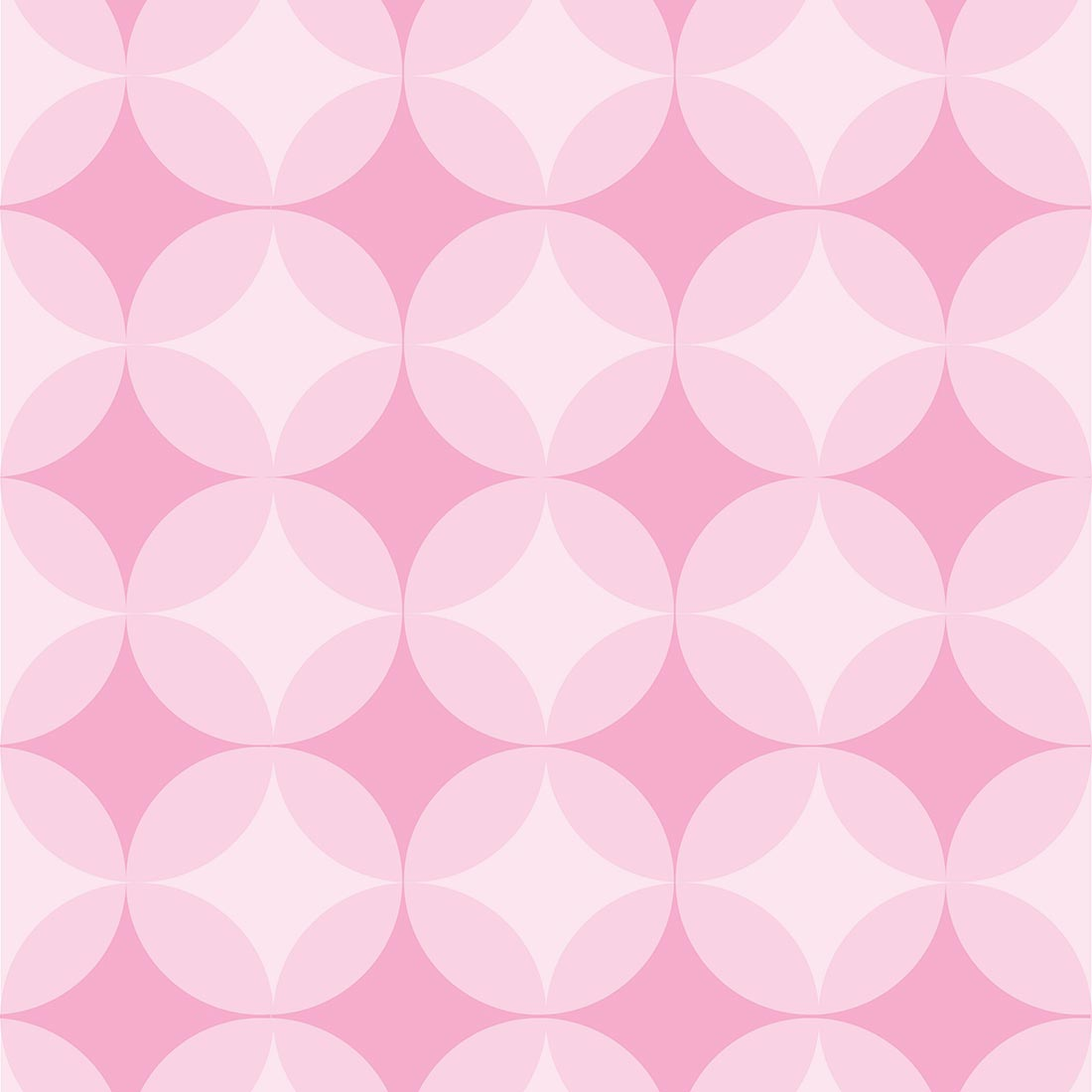 Papel de Parede Abstrato Círculo Rosa