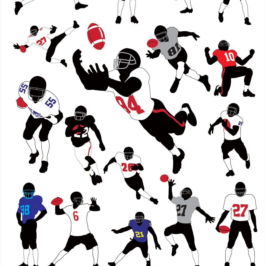 Papel de Parede Adesivo Casual Time Futebol Americano