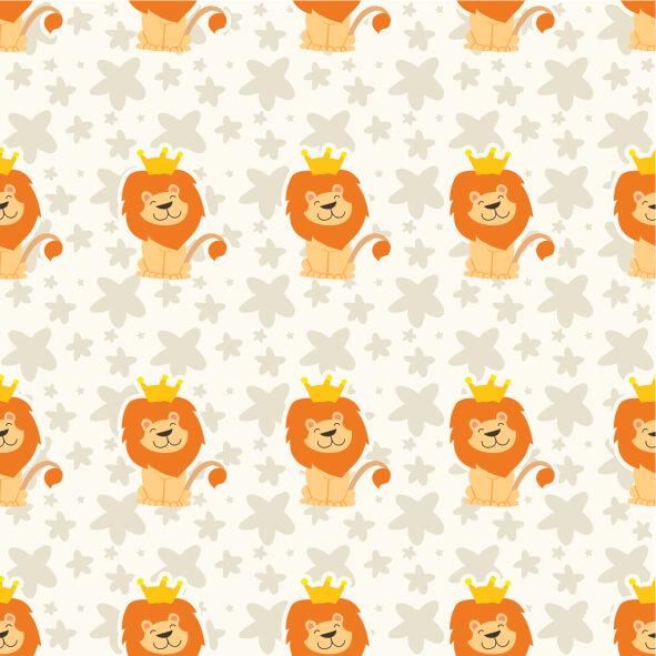 Papel de Parede Animais Leão com Coroa