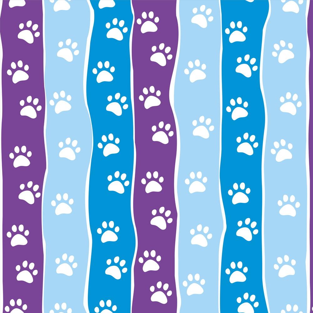 Papel de Parede Animais Patinhas Colors