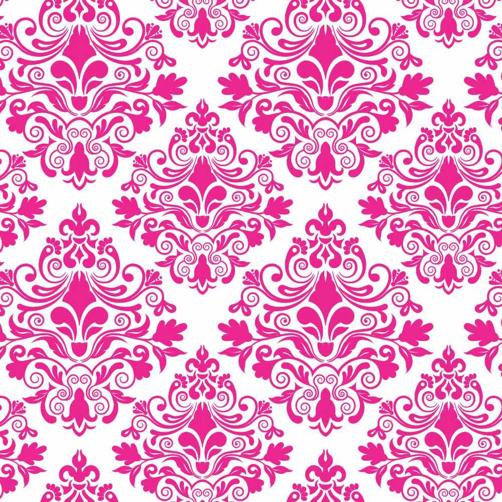 Papel de Parede Arabesco Floral Pink