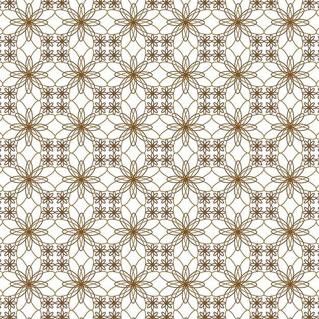 Papel de Parede Arabesco Flores em Mandalas Tons Neutros
