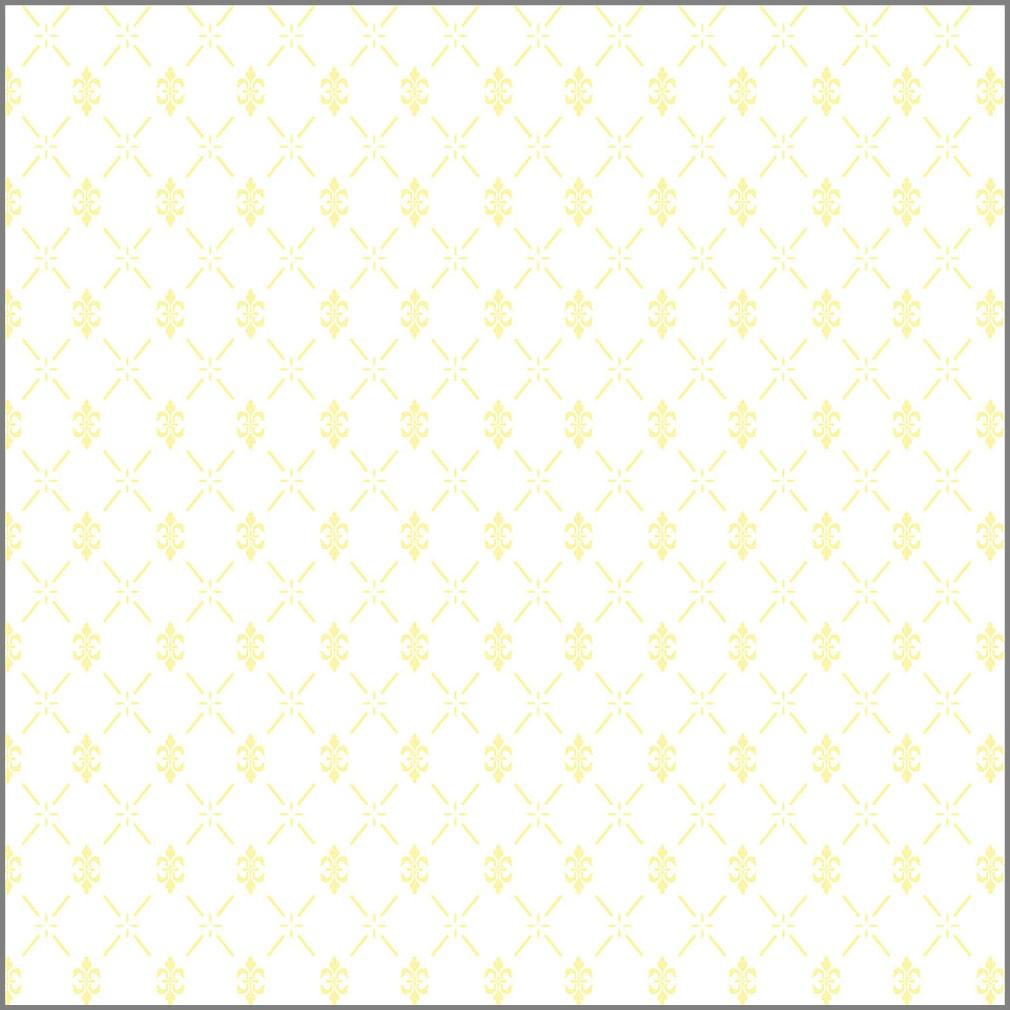 Papel de Parede Arabesco Jacquard Amarelo Claro com Fundo Branco