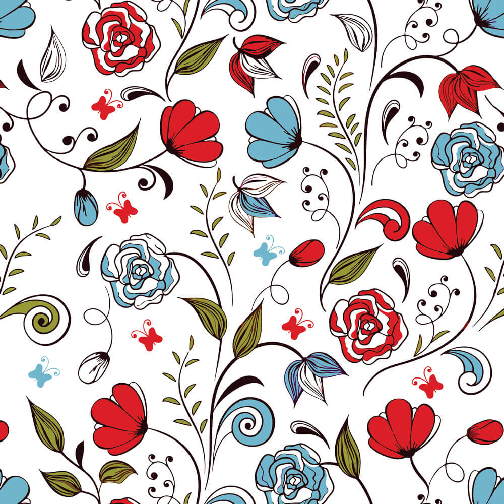 Papel de Parede Floral Primavera Vintage