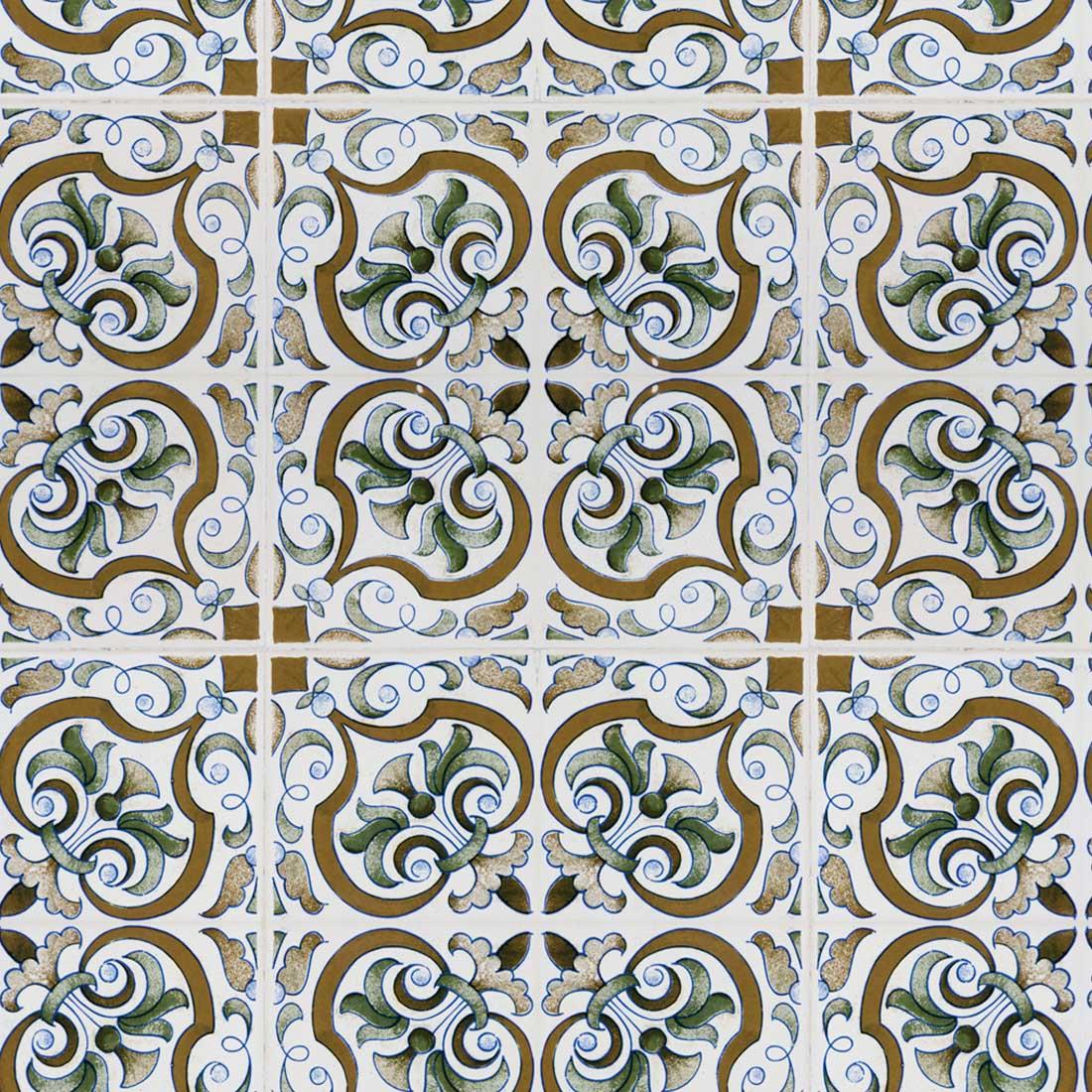 Papel de Parede Azulejo Português Sofisticado