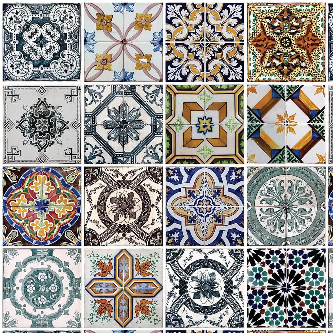 Papel de Parede Azulejos Portugueses Antigos