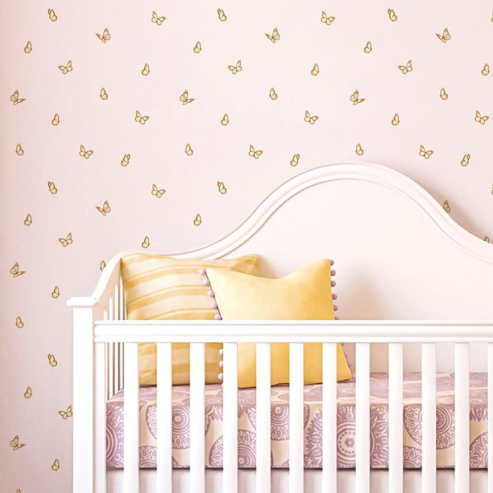 Papel de Parede Baby Borboletas Delicadas