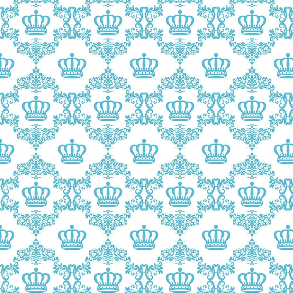 Papel de Parede Baby Coroa Azul Tiffany