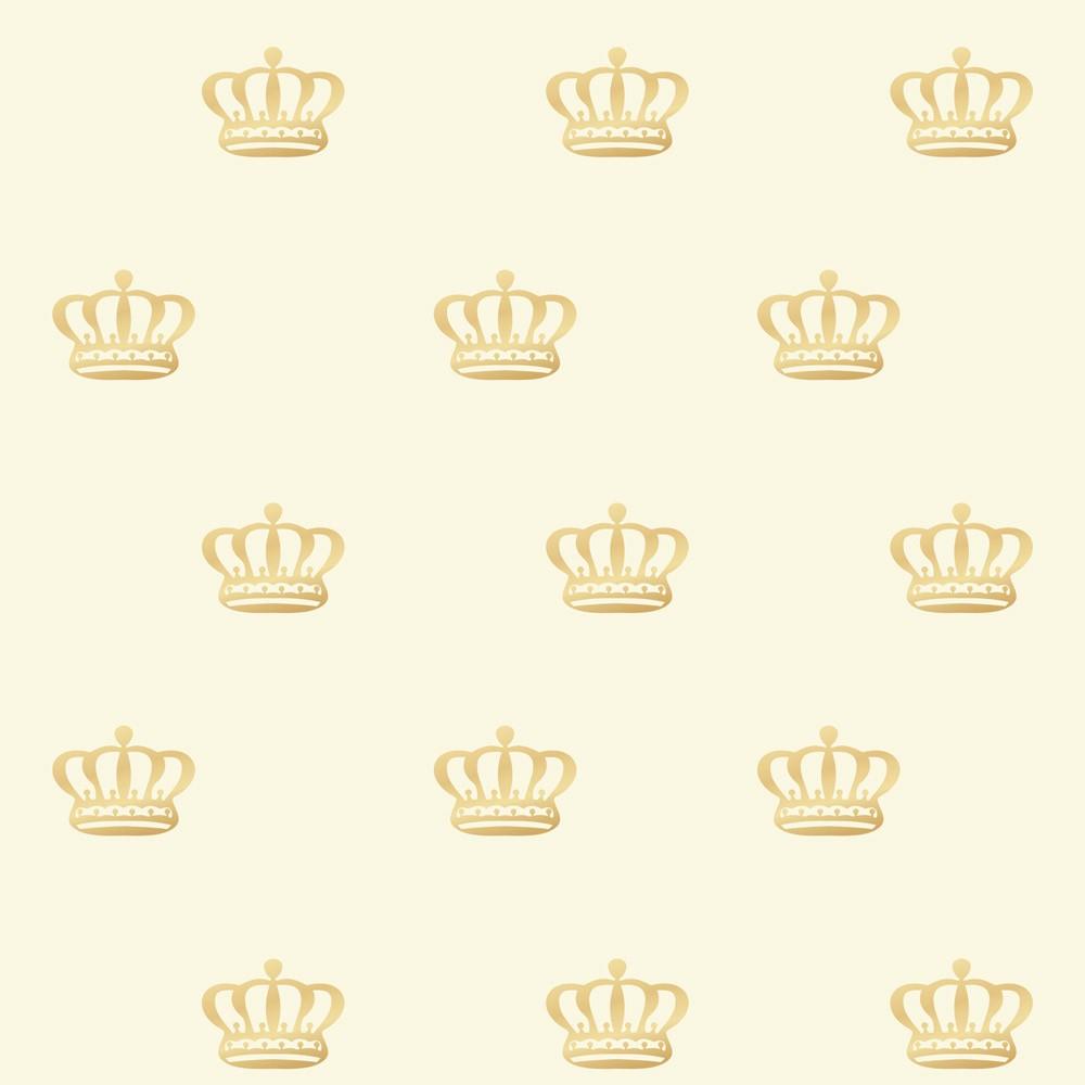Papel de Parede Baby Coroa Dourada Real