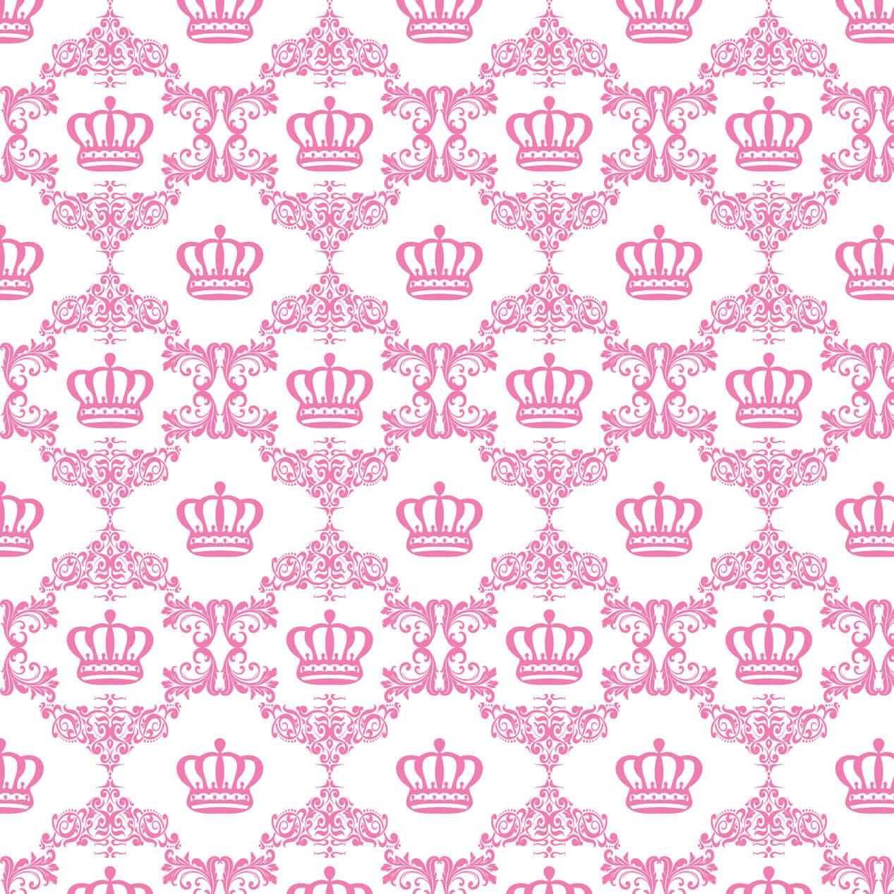 Papel de Parede Baby Coroa Girl