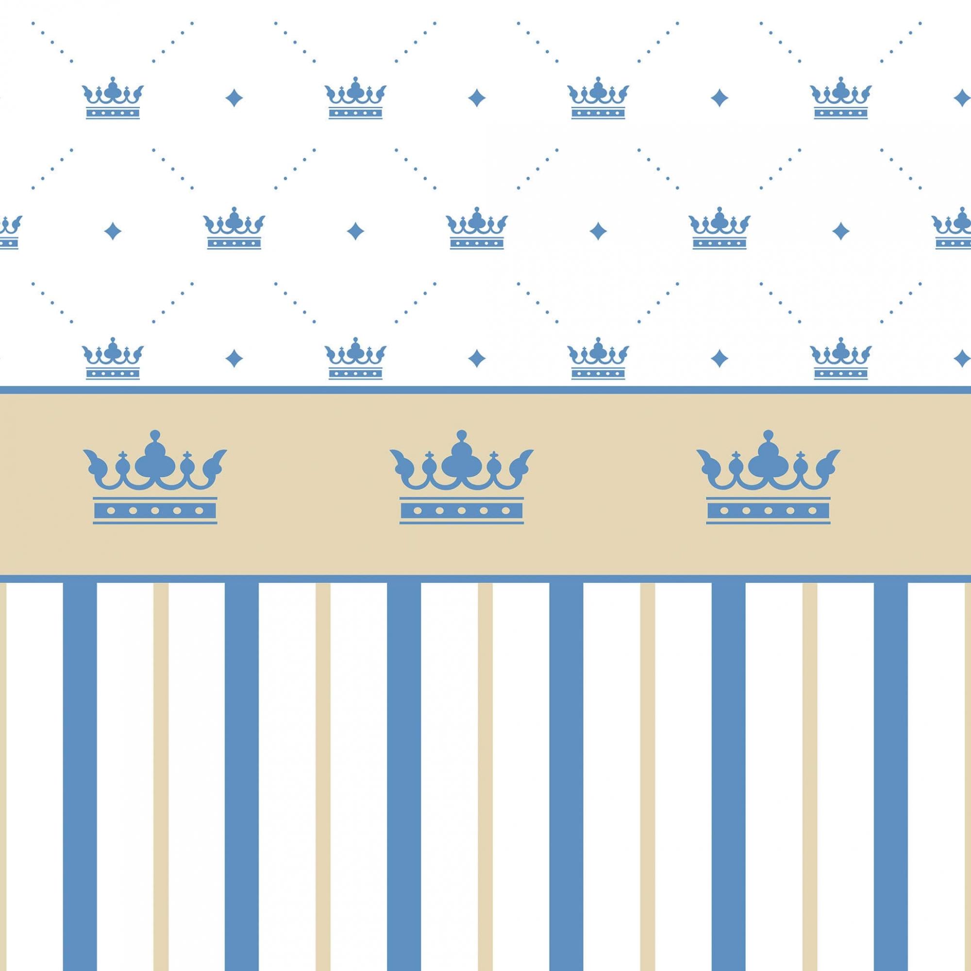 Papel de Parede Baby Coroa Meia Parede