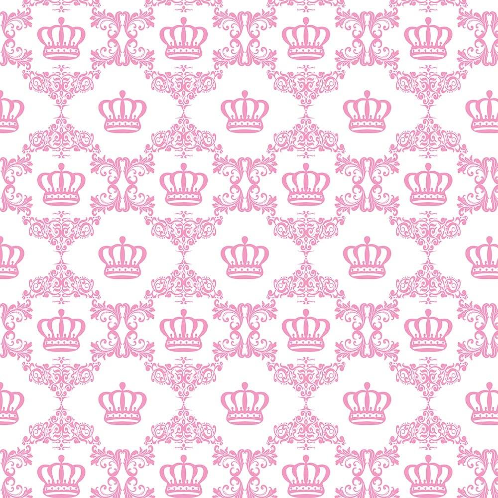 Papel de Parede Baby Coroa Rosa