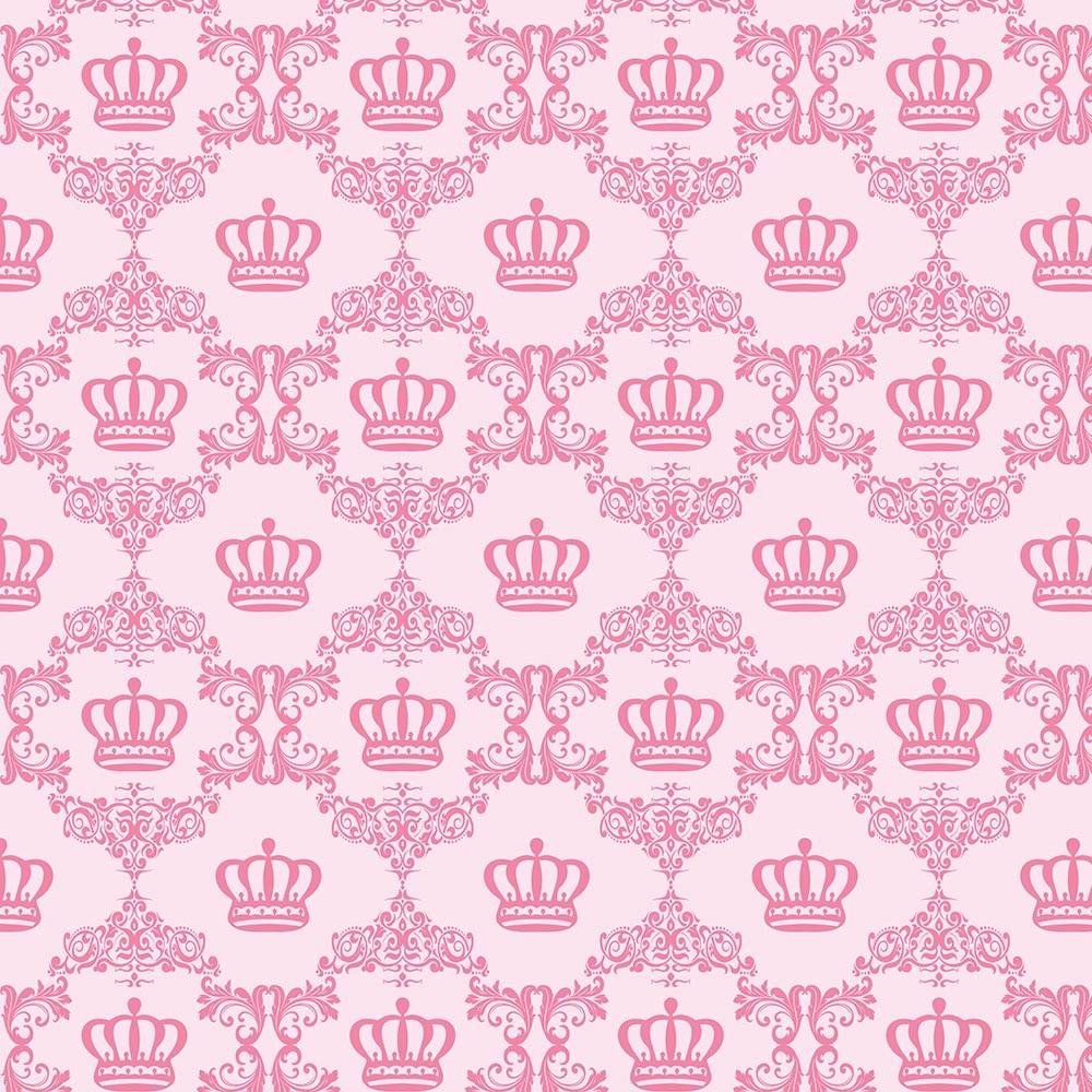 Papel de Parede Baby Coroa Rosa Menina