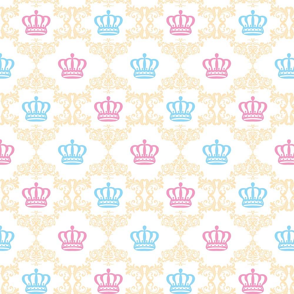 Papel de Parede Baby Coroas Coloridas