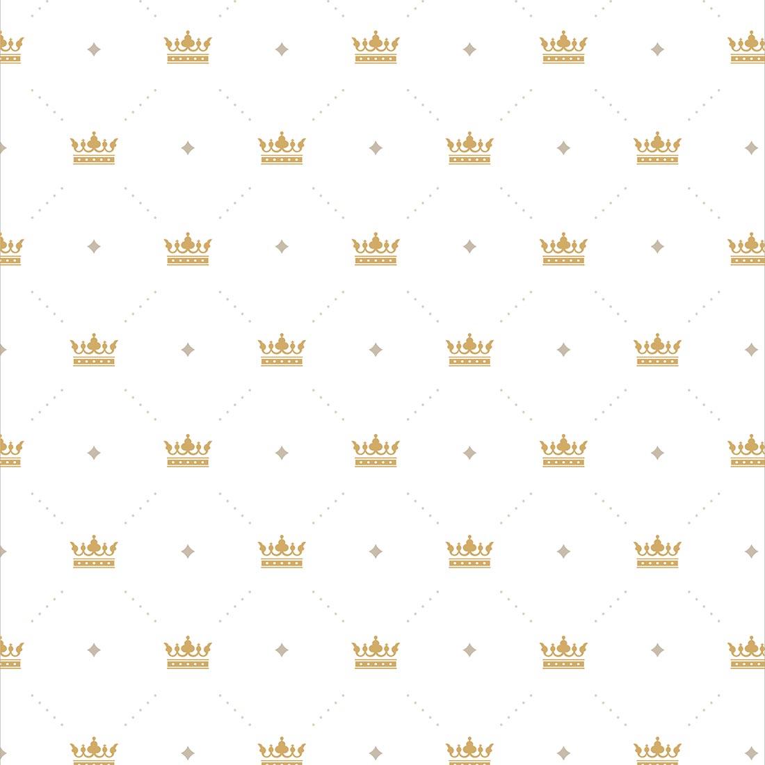 Papel de Parede Baby Coroas Douradas