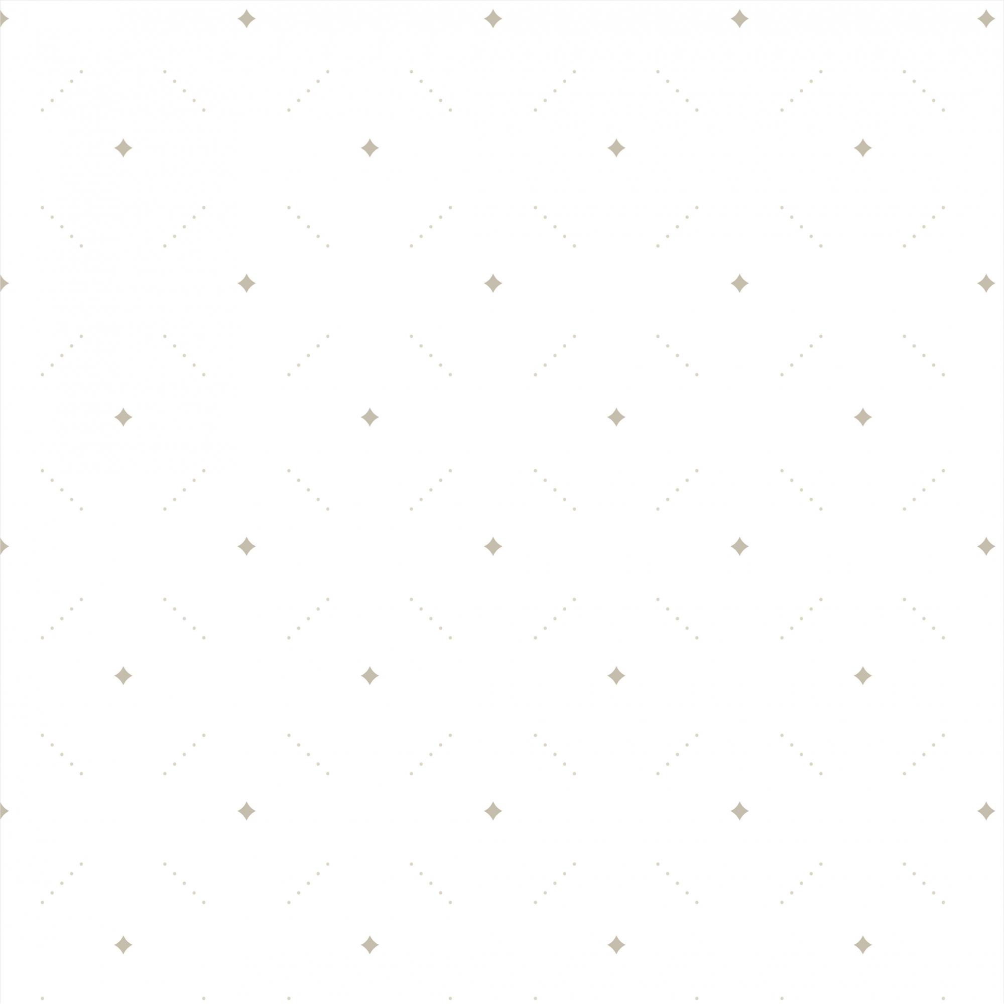 Papel de Parede Baby Delicado Desenhos Cinza No Fundo Branco