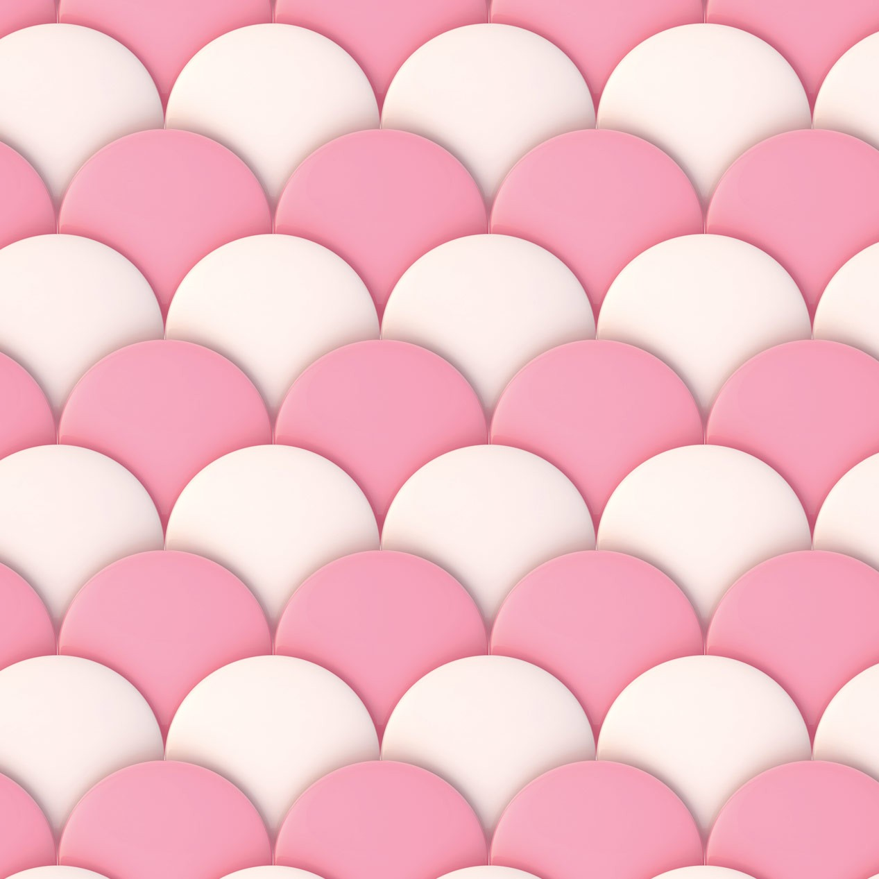 Papel de Parede Baby Escamas Rosa e Branco
