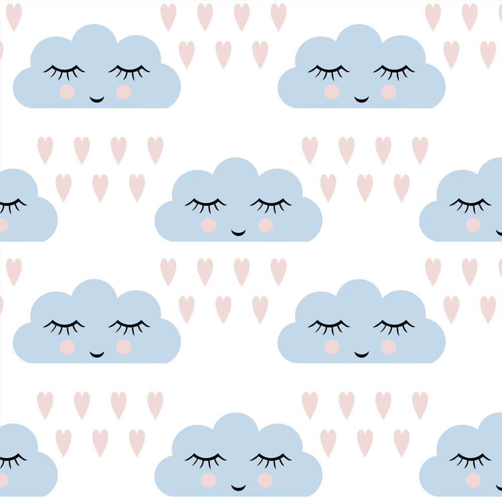 Papel de Parede Baby Nuvens Amor