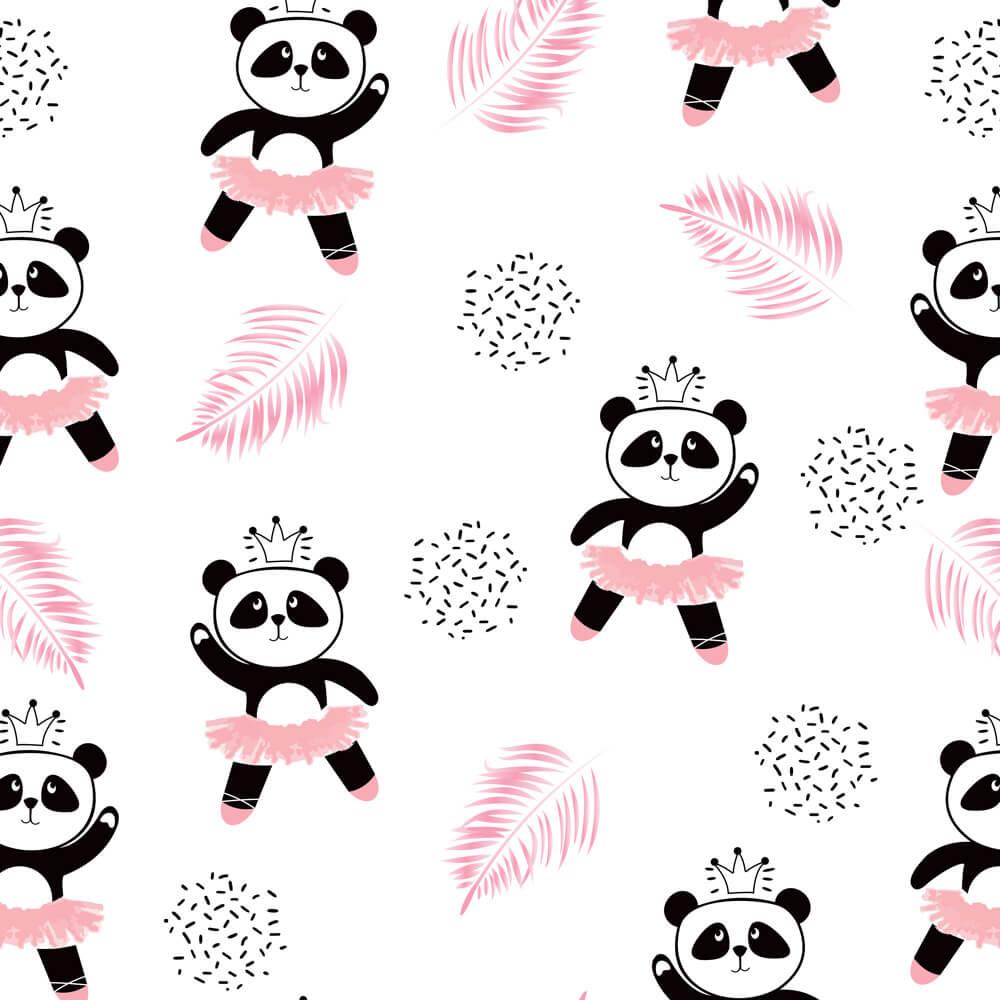 Papel de Parede Baby Panda Bailarina