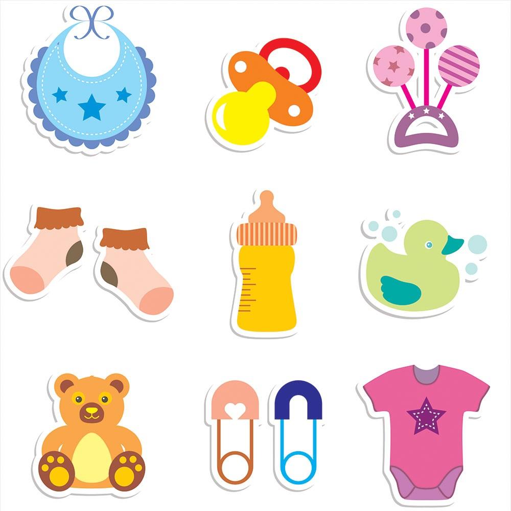 Papel de Parede Baby Utensílios Para Bebês