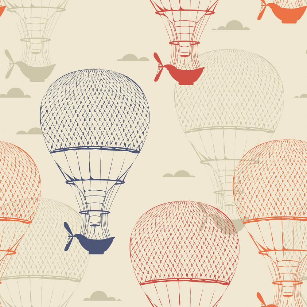 Papel de Parede Casual Balões No Céu