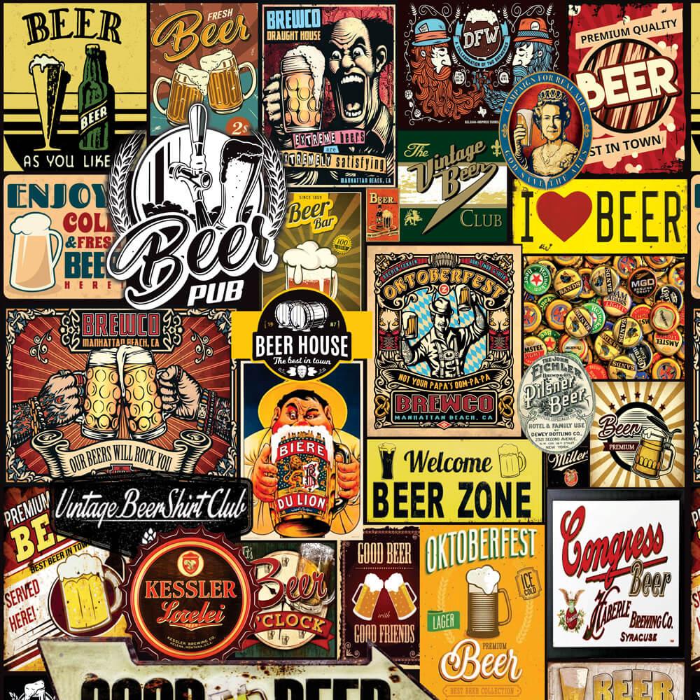 Papel de Parede Casual Beer Pub