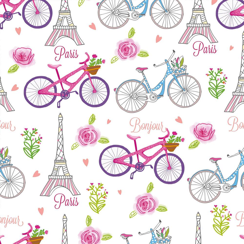 Papel de Parede Casual Bike Paris