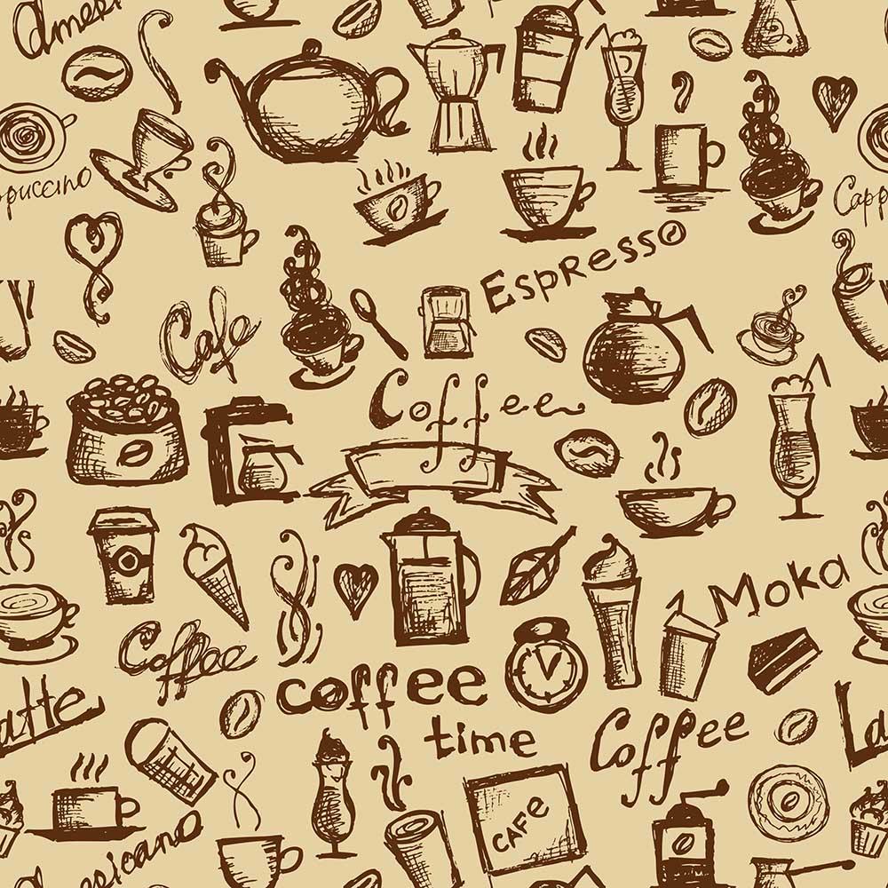 Papel de Parede Casual Café Marrom