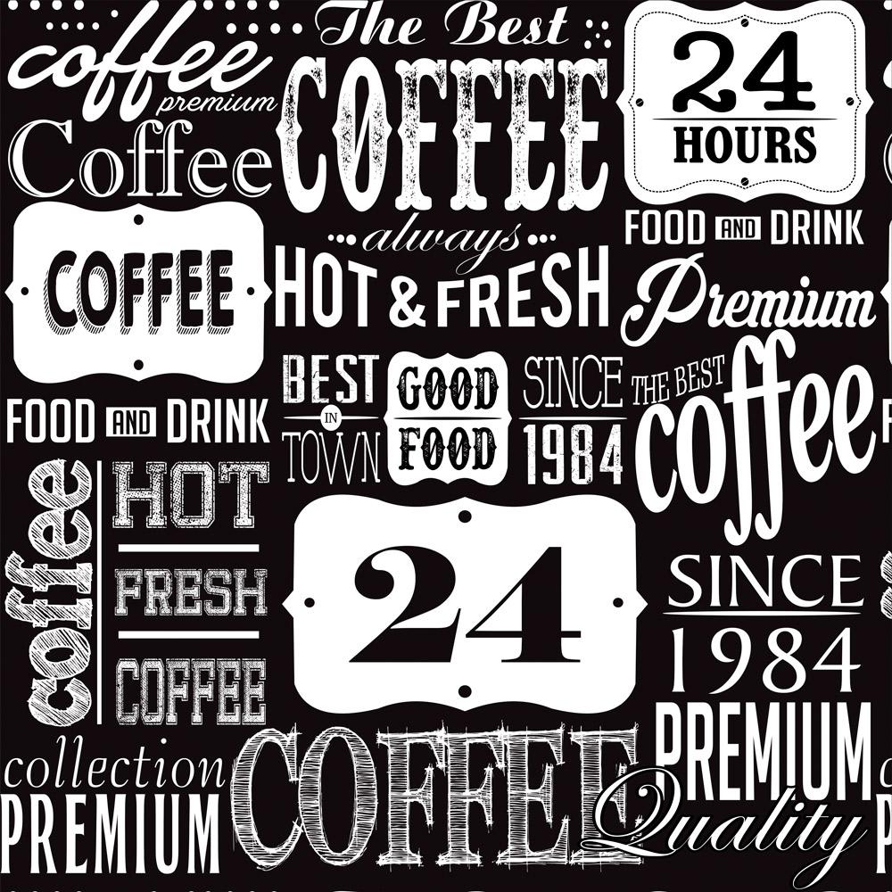 Papel de Parede Casual Coffee 24h