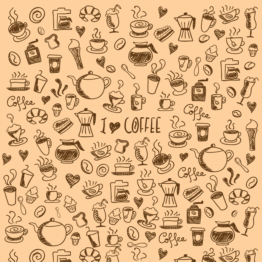 Papel de Parede Casual  Coffee Creme