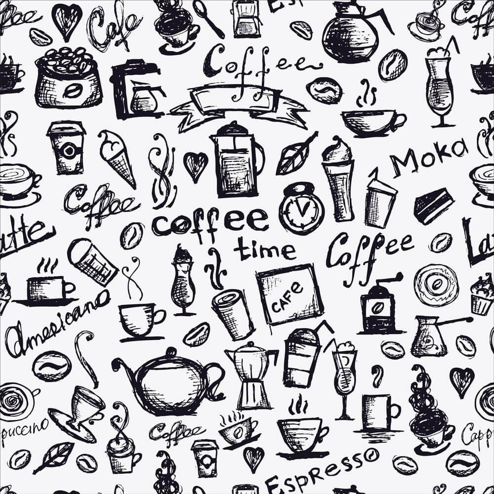 Papel de Parede Casual  Coffee Expresso