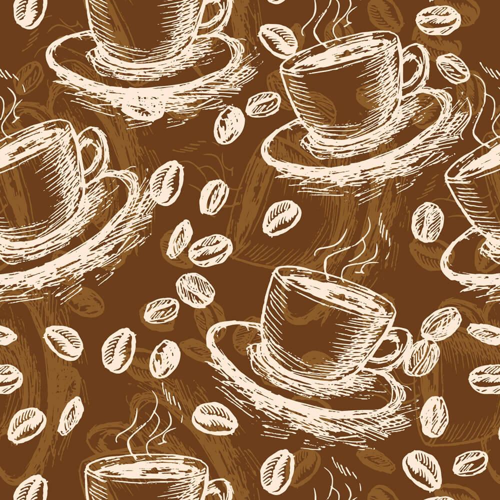 Papel de Parede Casual Coffee Grãos
