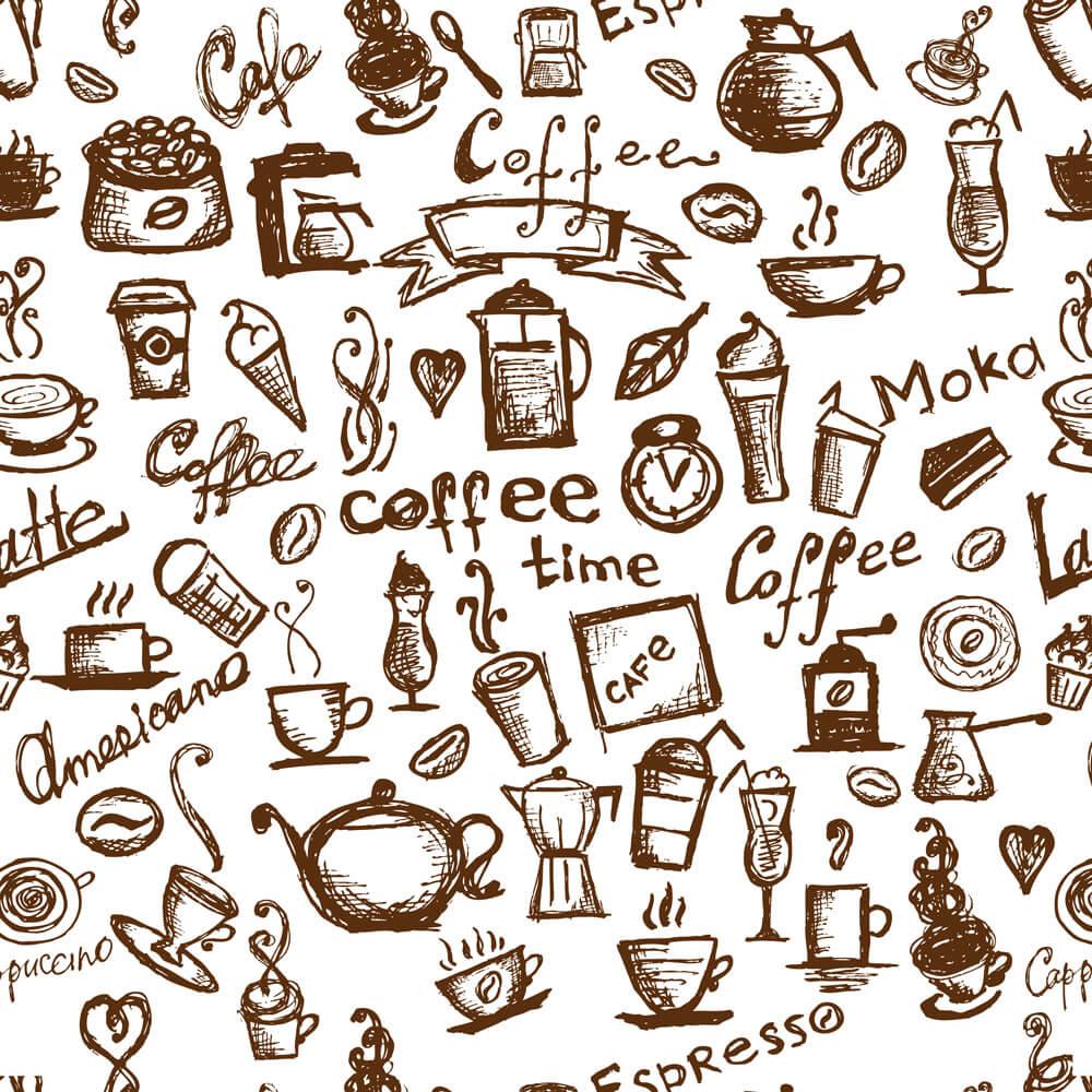 Papel de Parede Casual Coffee Moka