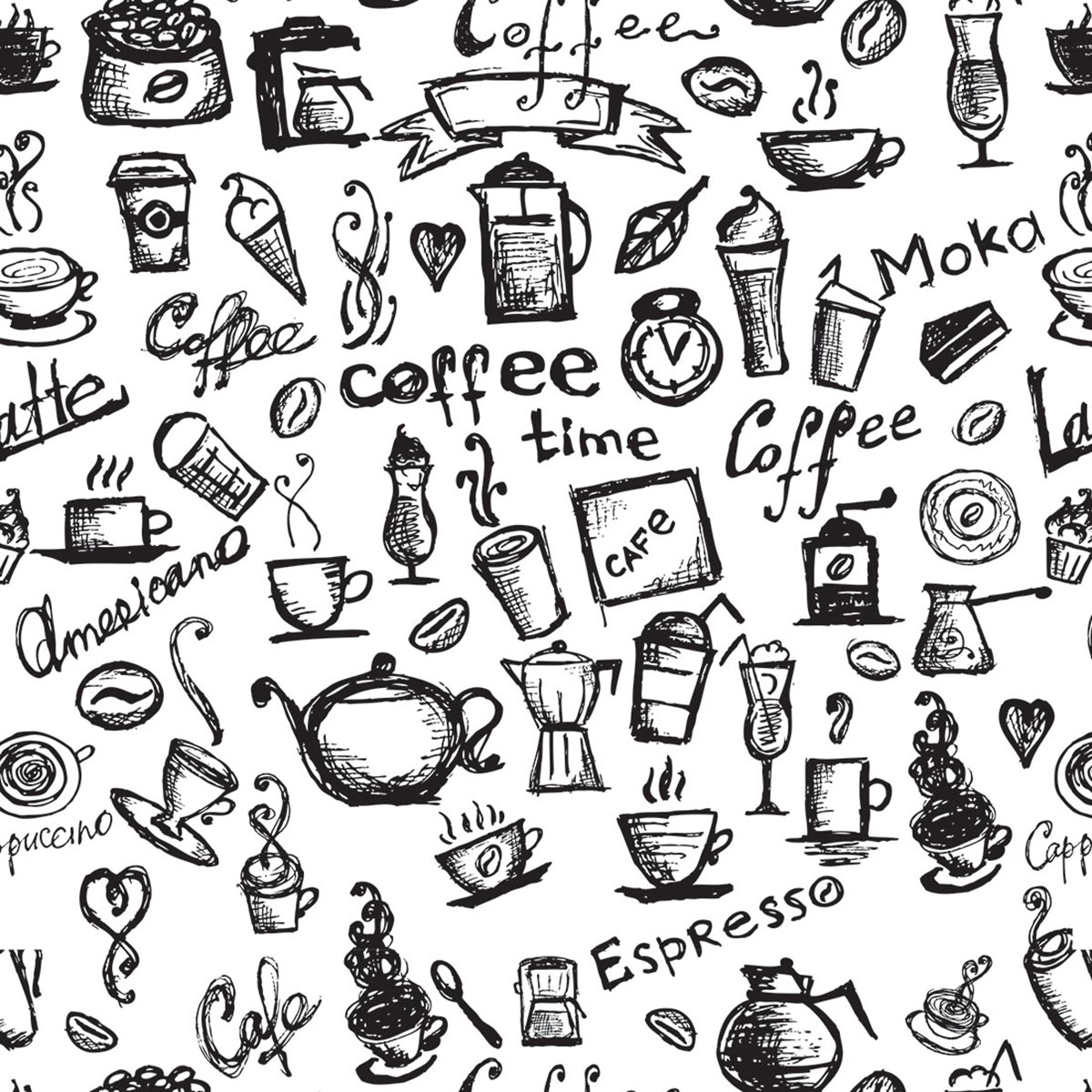 Papel de Parede Casual Coffee Time