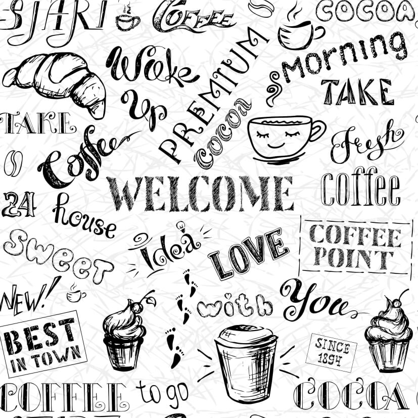 Papel de Parede Casual Coffee Love You