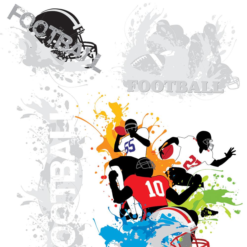 Papel de Parede Casual Futebol Americano Esporte
