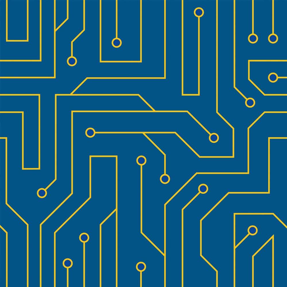 Papel de Parede Casual Informática Azul