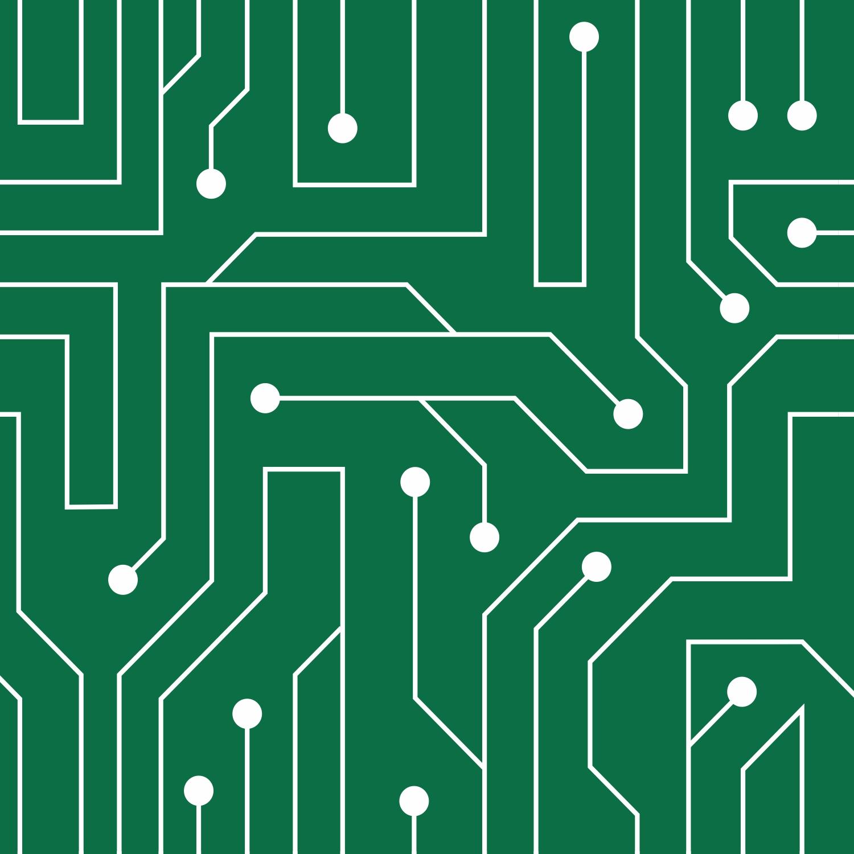 Papel de Parede Casual Informática Verde