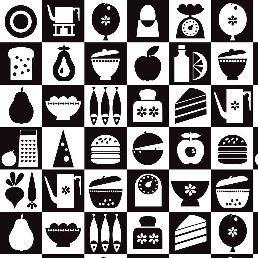 Papel de Parede Casual Itens Cozinha