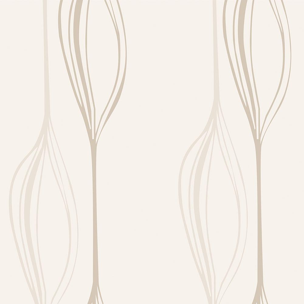 Papel de Parede Casual Linhas e Curvas