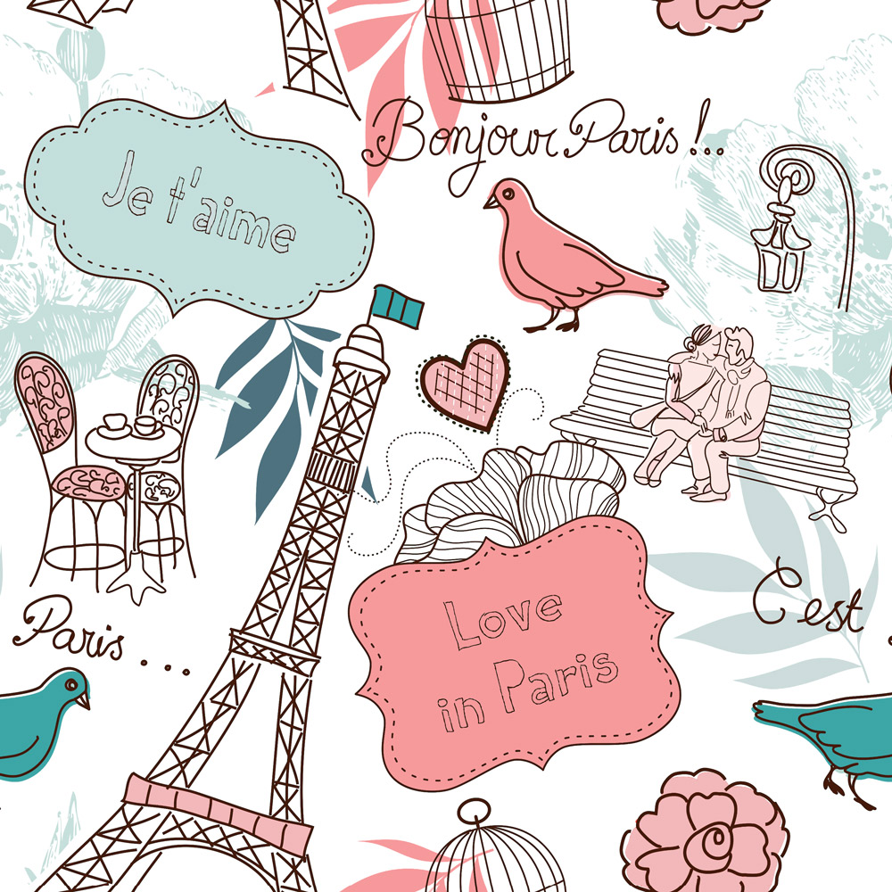 Papel de Parede Casual Love in Paris
