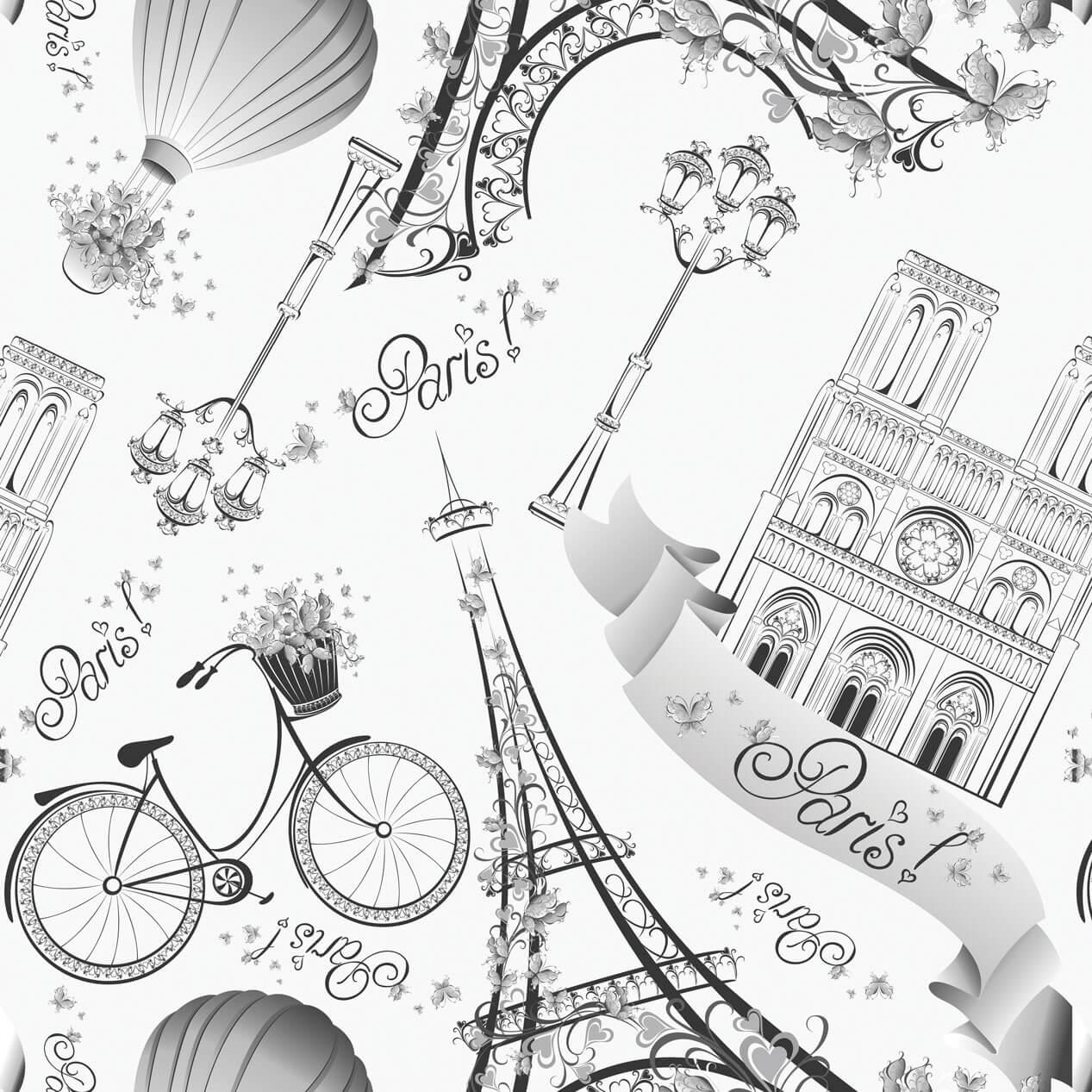 Papel de Parede Casual Love Paris