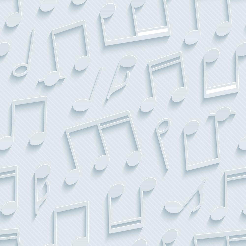 Papel de Parede Casual Notas Musicais