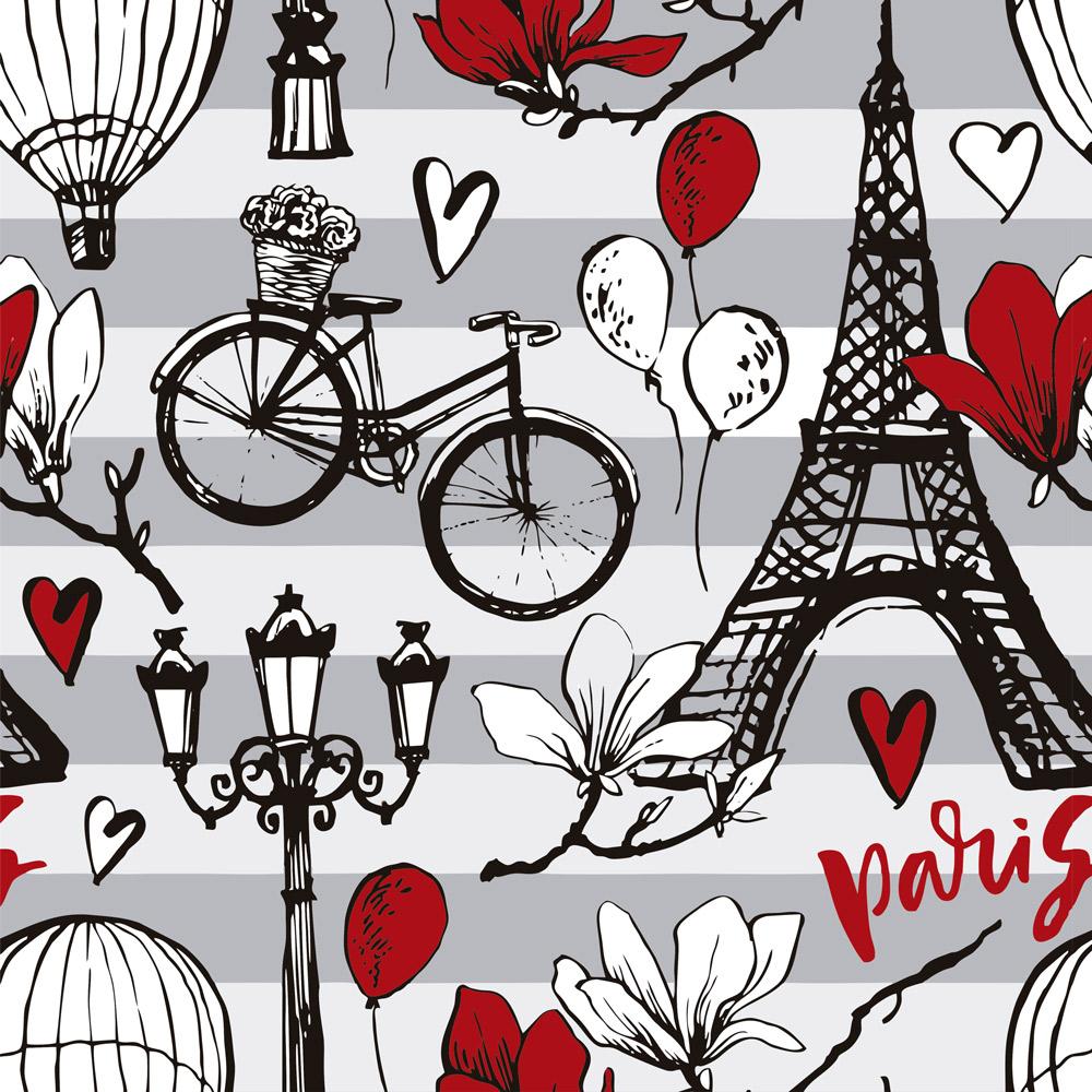 Papel de Parede Casual Paris Beautiful