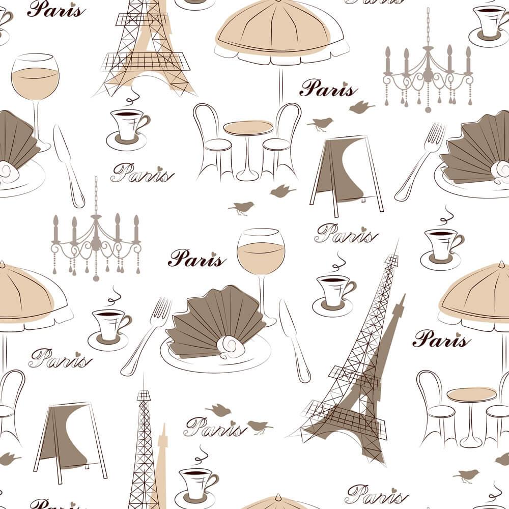 Papel de Parede Casual Paris Elegance