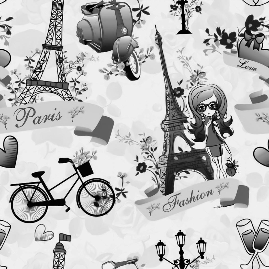 Papel de Parede Casual Paris Fashion