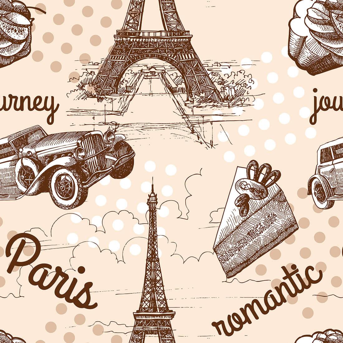 Papel de Parede Casual Paris Romantic