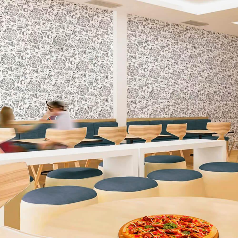 Papel de Parede Casual Pizzas